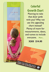 X203 Colorful Growth Chart