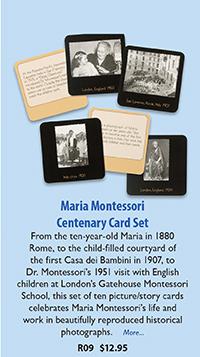 R09 maria Montessori Centenary Card Set