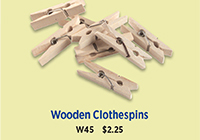 W45 Wooden Clothespins