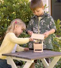 Children with Birdhouse