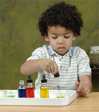 Child Mixing Colors