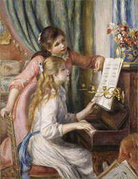 Girls at Piano