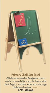 LC22 Primary Chalk/Art Easel