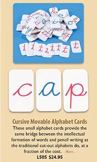 L505 Cursive Movable Alphabet Cards
