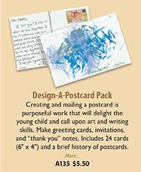 A135 Design-A-Postcard Pack
