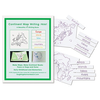 Continent Map Writing (Print)
