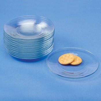 Dozen Glass Snack Plates