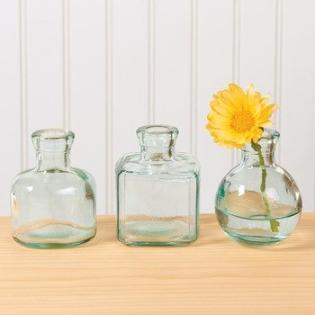 Recycled Green Glass Vase Set
