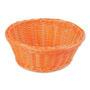 Round Washable Plastic Basket – Orange