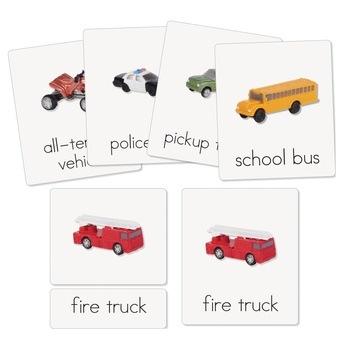 Land Vehicles Three-Part Cards