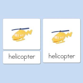 Air Vehicles Three-Part Cards