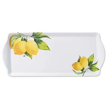 Fresh Lemons Melamine Tray with Handles
