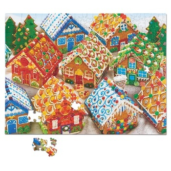 Gingerbread Houses Family Pieces Puzzle