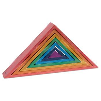 Triangles Wooden Rainbow Architect Blocks